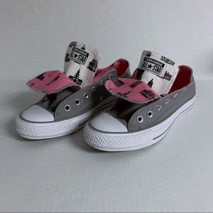 Converse Double Tongue Pink & Gray Shoes